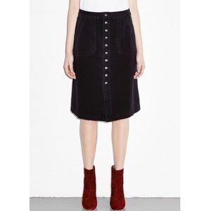 NWT M.i.h Jeans Black Denim Sonning A-line Skirt S